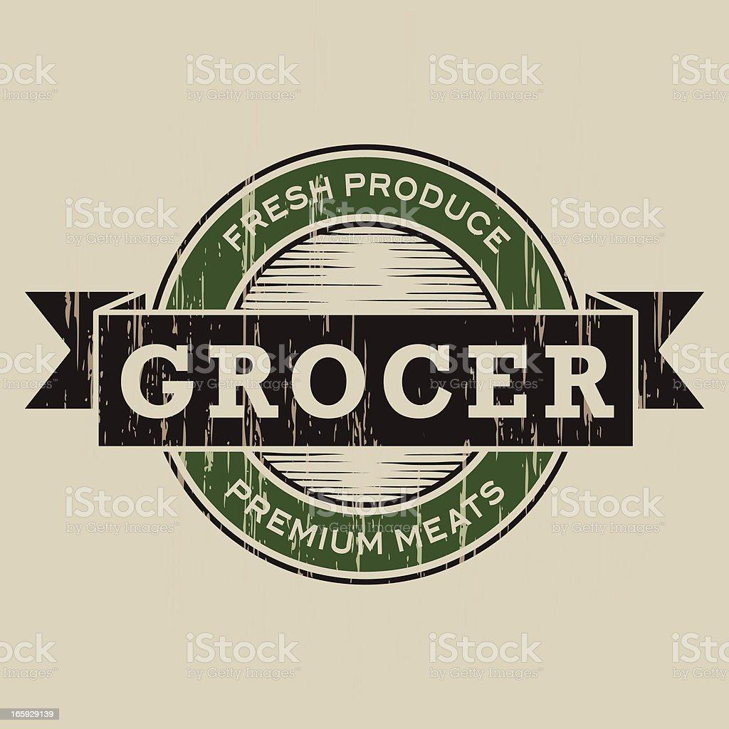 Vintage Grocer Label royalty-free stock vector art