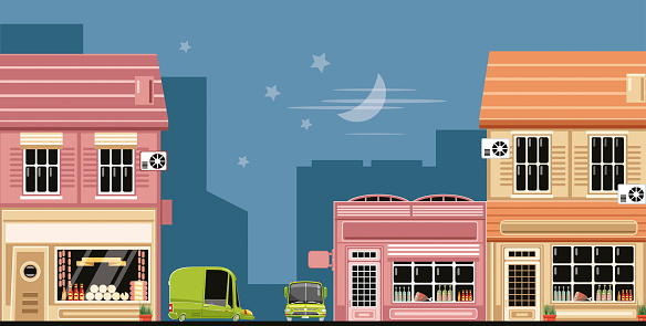 Easy editable vintage delicatessen store vector  illustration. All elements was layered seperately...