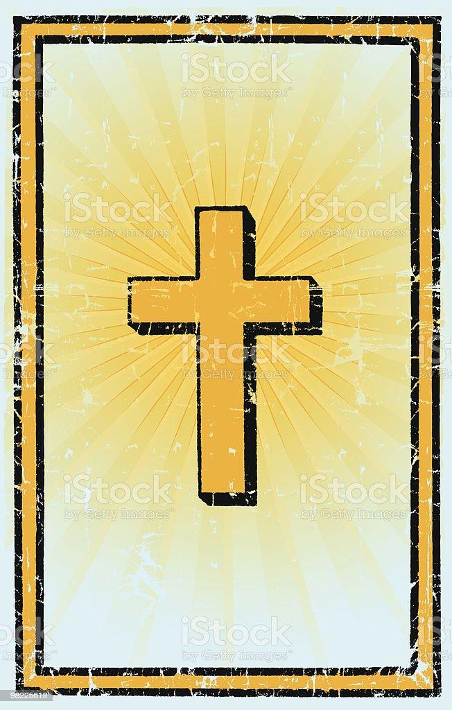 Cross Vintage Grunge cross vintage grunge - immagini vettoriali stock e altre immagini di a forma di croce royalty-free