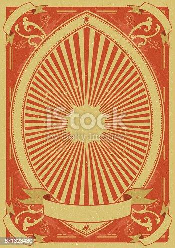 istock Vintage Grunge Poster Background 871323430