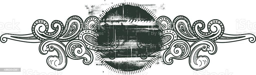 vintage grunge-shield – Vektorgrafik
