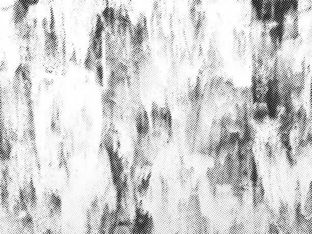 Vintage halftone texture overlay. Vector background Vintage grunge vector texture overlay. Monochrome abstract splattered background. silk screen stock illustrations