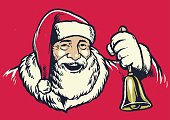 vector of Vintage hand drawing style of santa claus