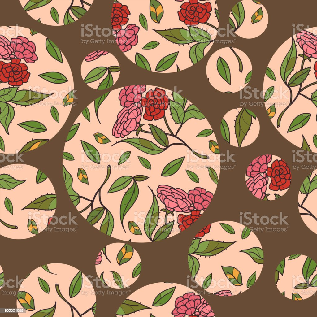 Vintage hand drawn beautiful flowers classic design with retro style background seamless pattern vector royalty-free vintage hand drawn beautiful flowers classic design with retro style background seamless pattern vector stock illustration - download image now