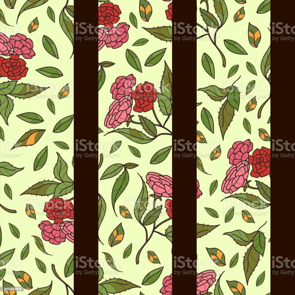 Vintage hand drawn beautiful flowers classic design with retro style background seamless pattern vector royalty-free vintage hand drawn beautiful flowers classic design with retro style background seamless pattern vector stock vector art & more images of art