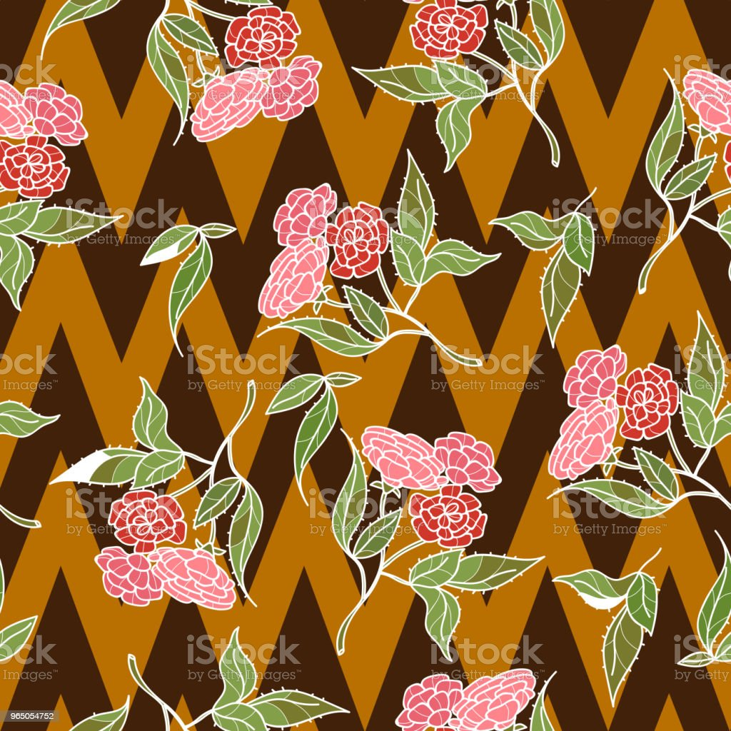 Vintage hand drawn beautiful flowers classic design with retro style background seamless pattern vector vintage hand drawn beautiful flowers classic design with retro style background seamless pattern vector - stockowe grafiki wektorowe i więcej obrazów botanika royalty-free