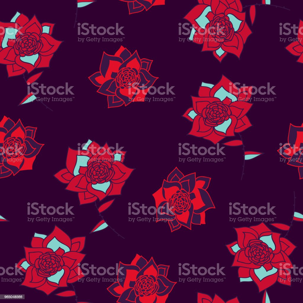 Vintage hand drawn flowers classic design with retro style background seamless pattern vector royalty-free vintage hand drawn flowers classic design with retro style background seamless pattern vector stock illustration - download image now