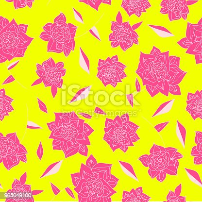 Vintage Hand Drawn Flowers Classic Design With Retro Style Background Seamless Pattern Vector Stock Vector Art & More Images of Art 965049100