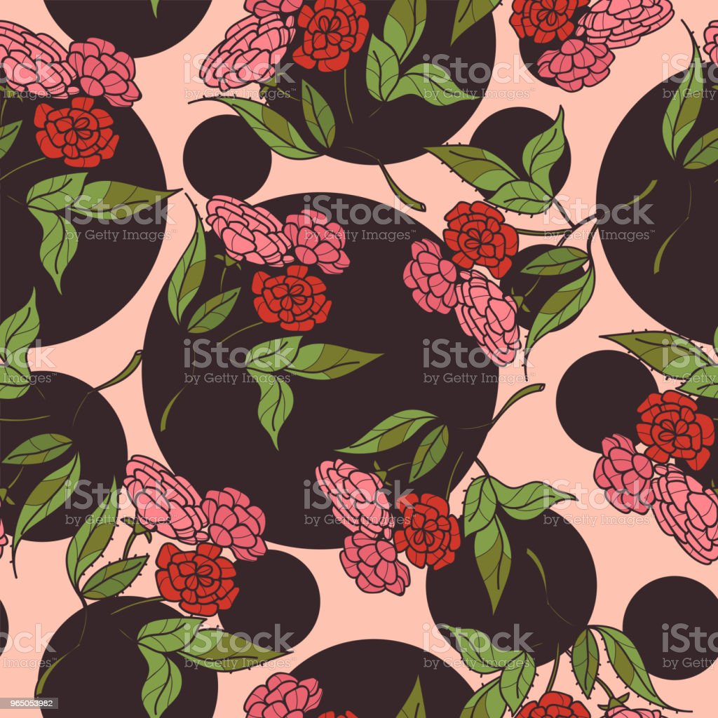 Vintage hand drawn flowers classic design with retro style background seamless pattern vector vintage hand drawn flowers classic design with retro style background seamless pattern vector - stockowe grafiki wektorowe i więcej obrazów akwarela royalty-free