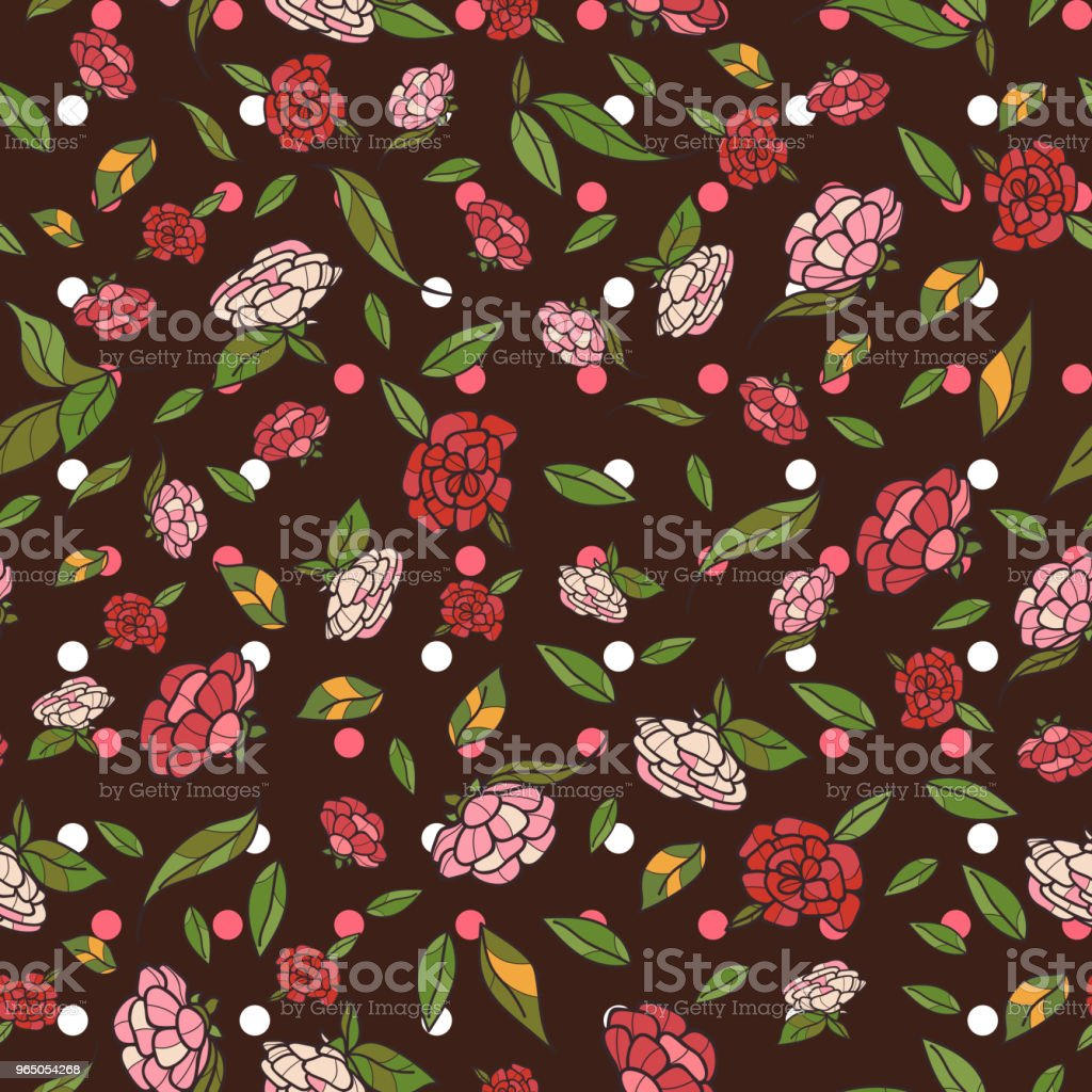 Vintage hand drawn flowers classic design with retro style background seamless pattern vector royalty-free vintage hand drawn flowers classic design with retro style background seamless pattern vector stock vector art & more images of art