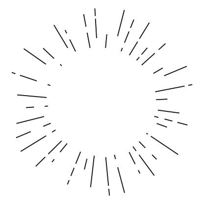 Vintage hand drawn sunburst design template isolated on white background. Vector illustration