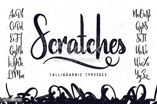 Vintage handcrafted script typeface named
