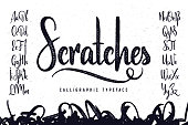 "Vintage handcrafted script typeface named ""Scratches"""