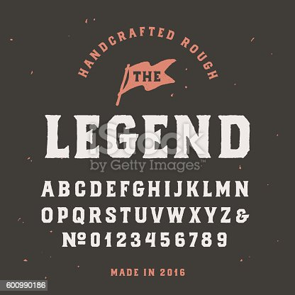 Uppercase rough alphabet