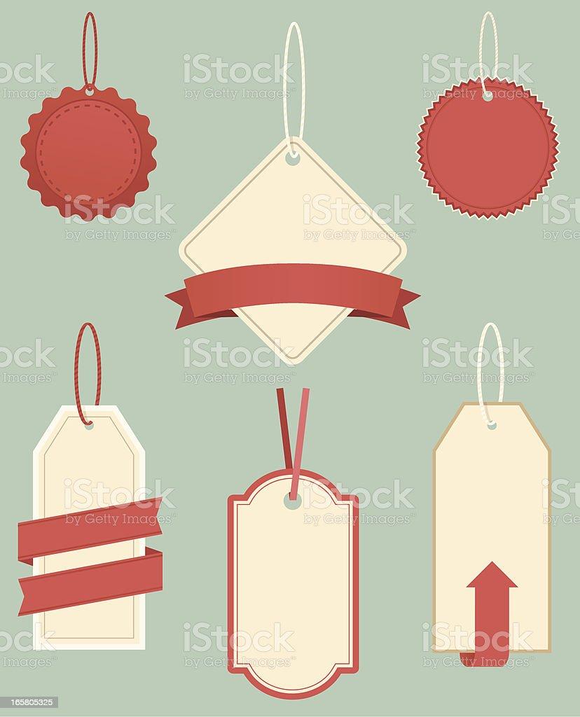 Vintage Hanging Tags vector art illustration