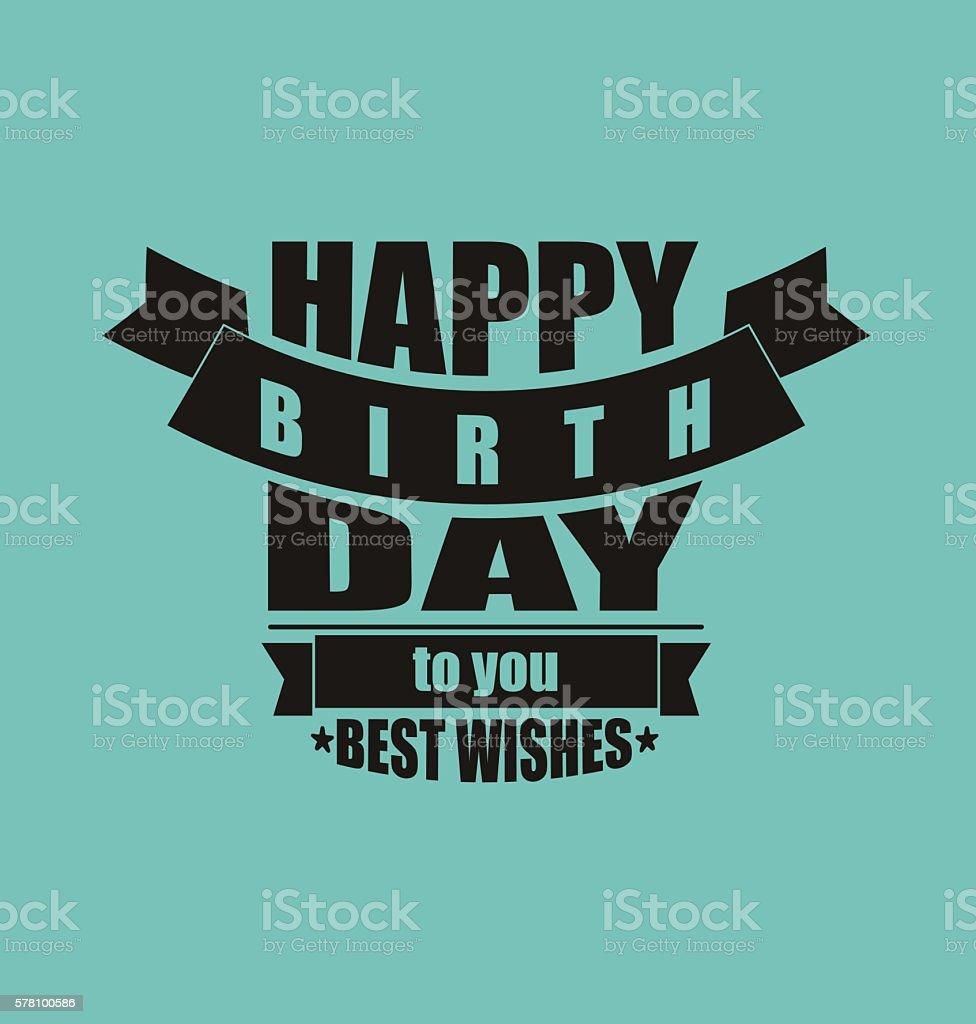Vintage Happy Birthday Card Frame Design Vector stock vector art – Vintage Happy Birthday Cards