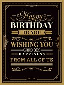 Vintage Happy Birthday card template