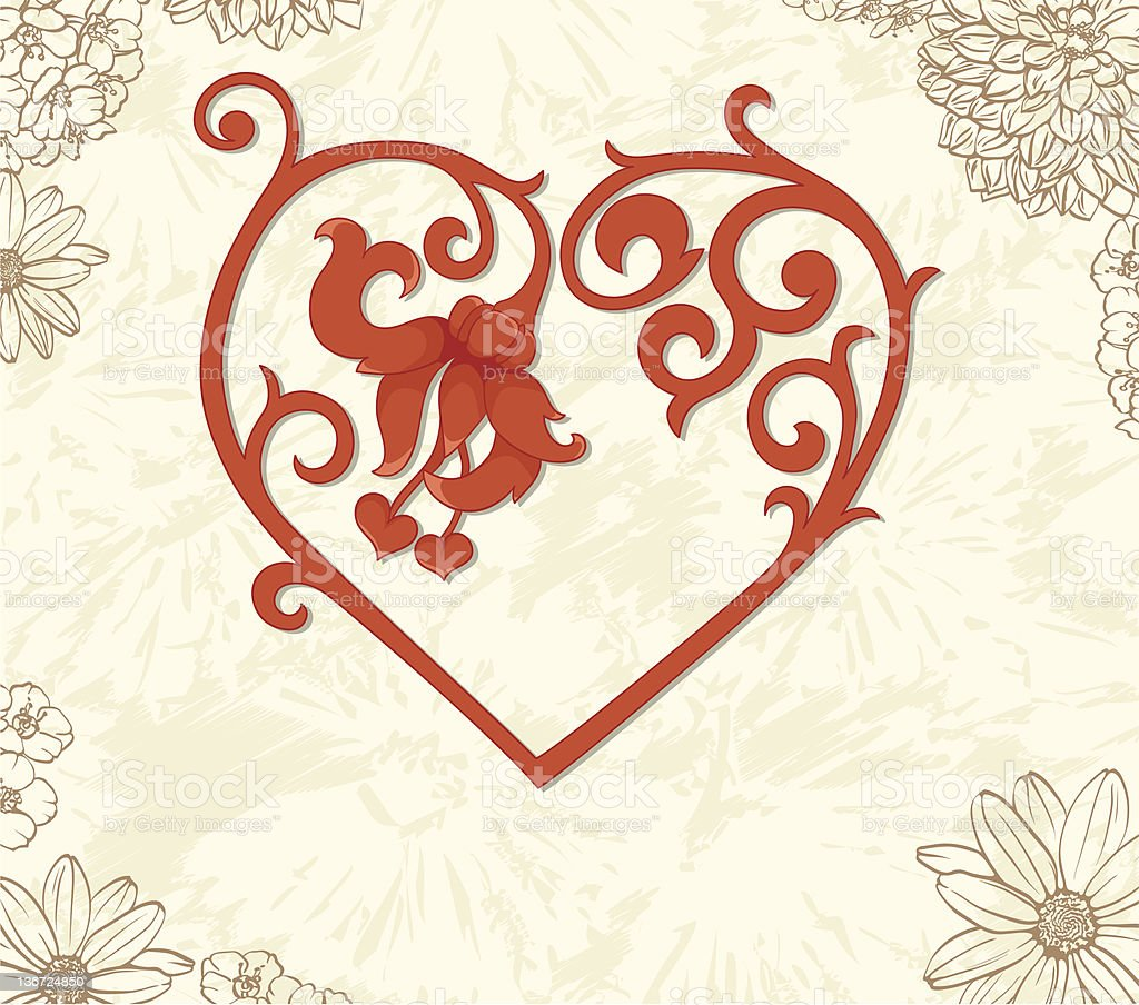 Vintage heart royalty-free stock vector art