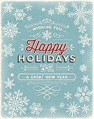 Vintage Holiday Background with Text