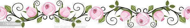 Vintage horizontal seamless vignettes with pink rose buds vector vector id176459888?b=1&k=6&m=176459888&s=612x612&h=ur3pdn37oh3c1 b h9ospgqxfz0quyfgyqmtlcmqwpw=