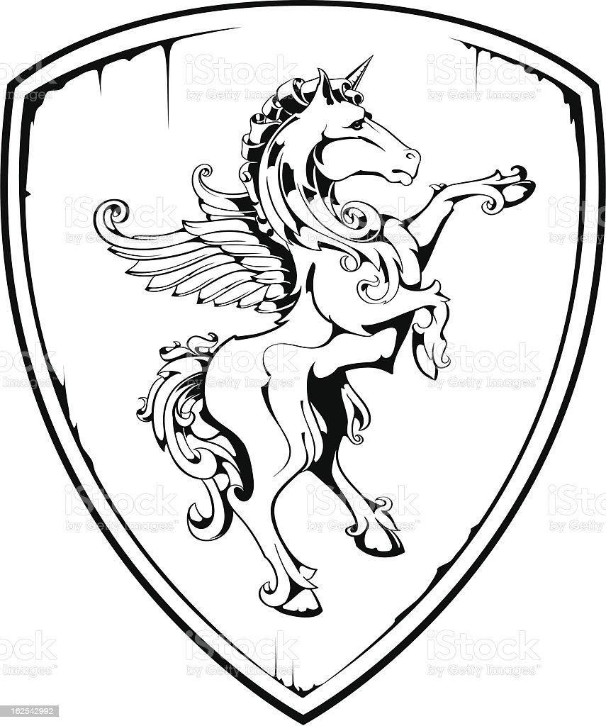 Vintage Horse On Shield Stock Illustration Download Image Now Istock