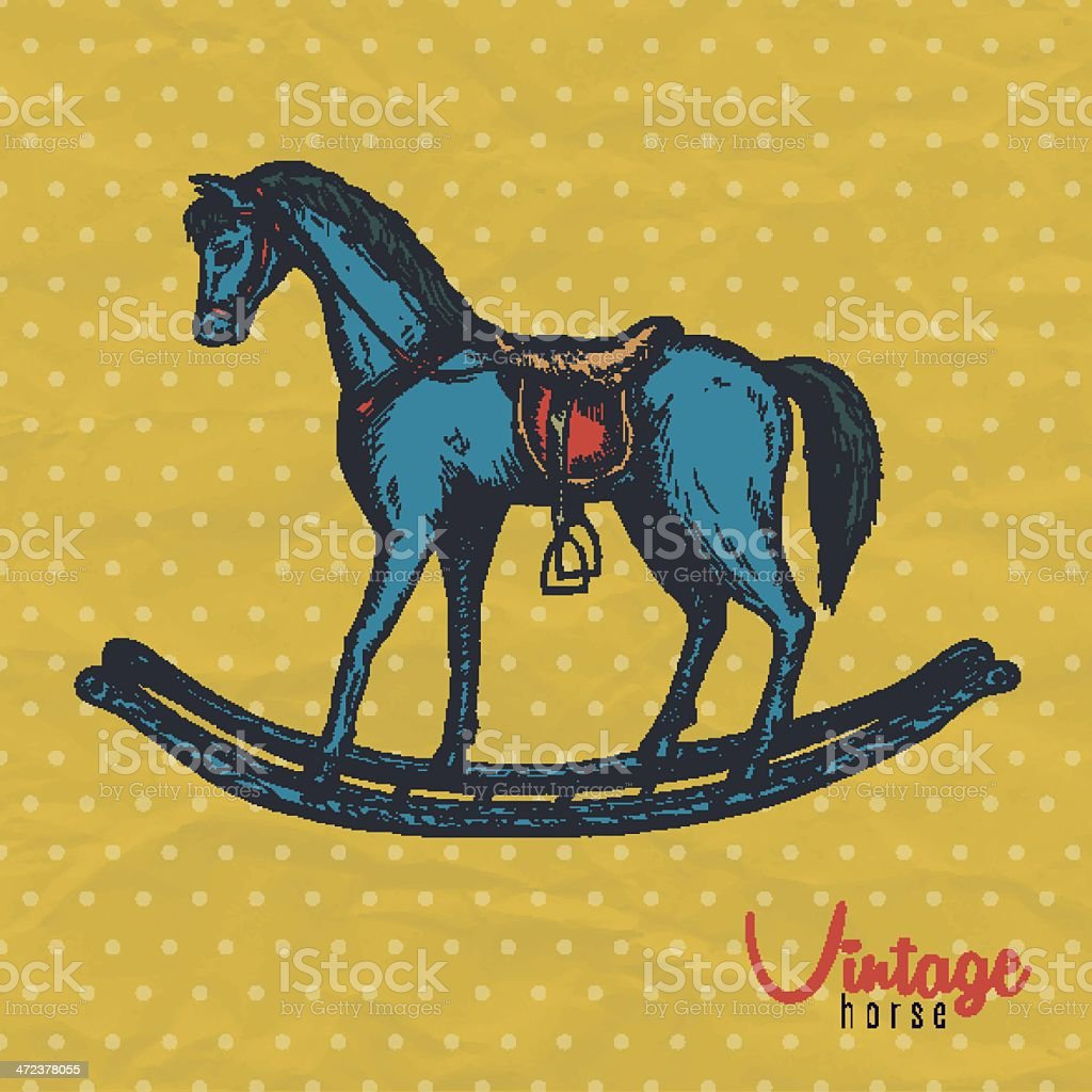 Vintage Horse Toy Stock Illustration Download Image Now Istock