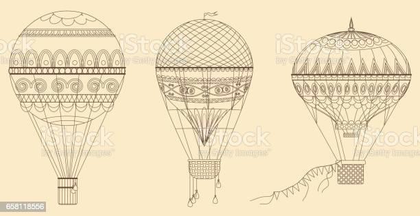 Vintage hot air balloons vector illustration thin line baloon vector id658118556?b=1&k=6&m=658118556&s=612x612&h=fnpafh rdmuuzx0i9yinshgsxx2nnnk8xju  yqld4s=
