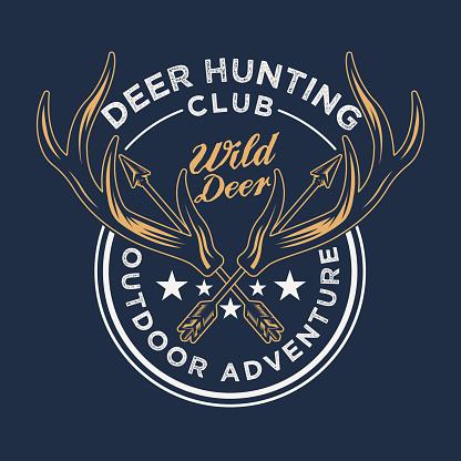 Vintage Hunting and Adventure Emblem Badge