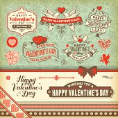 Vintage icons related to Valentine's Day