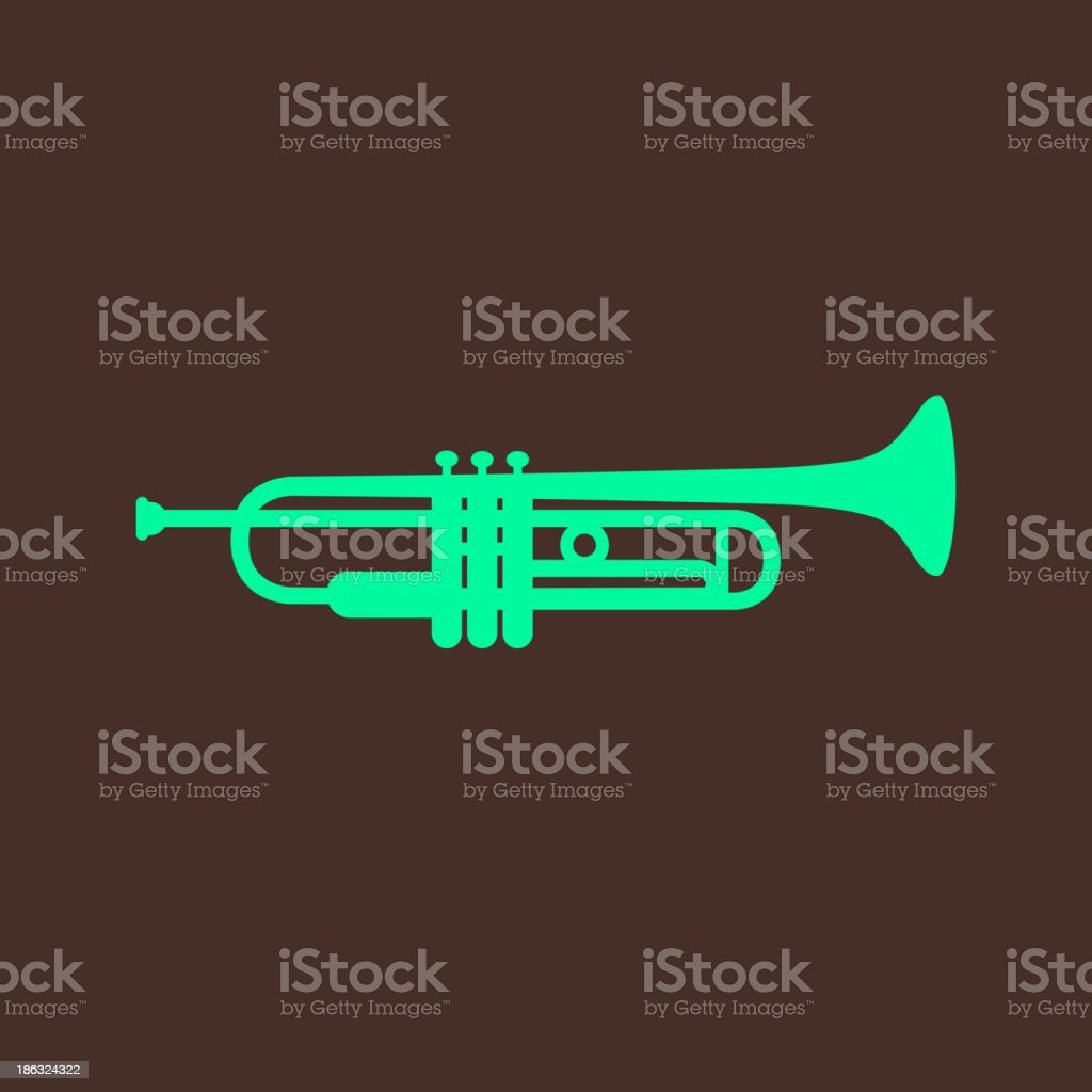 vintage illustration with the trumpet royalty-free vintage illustration with the trumpet stock vector art & more images of brass band