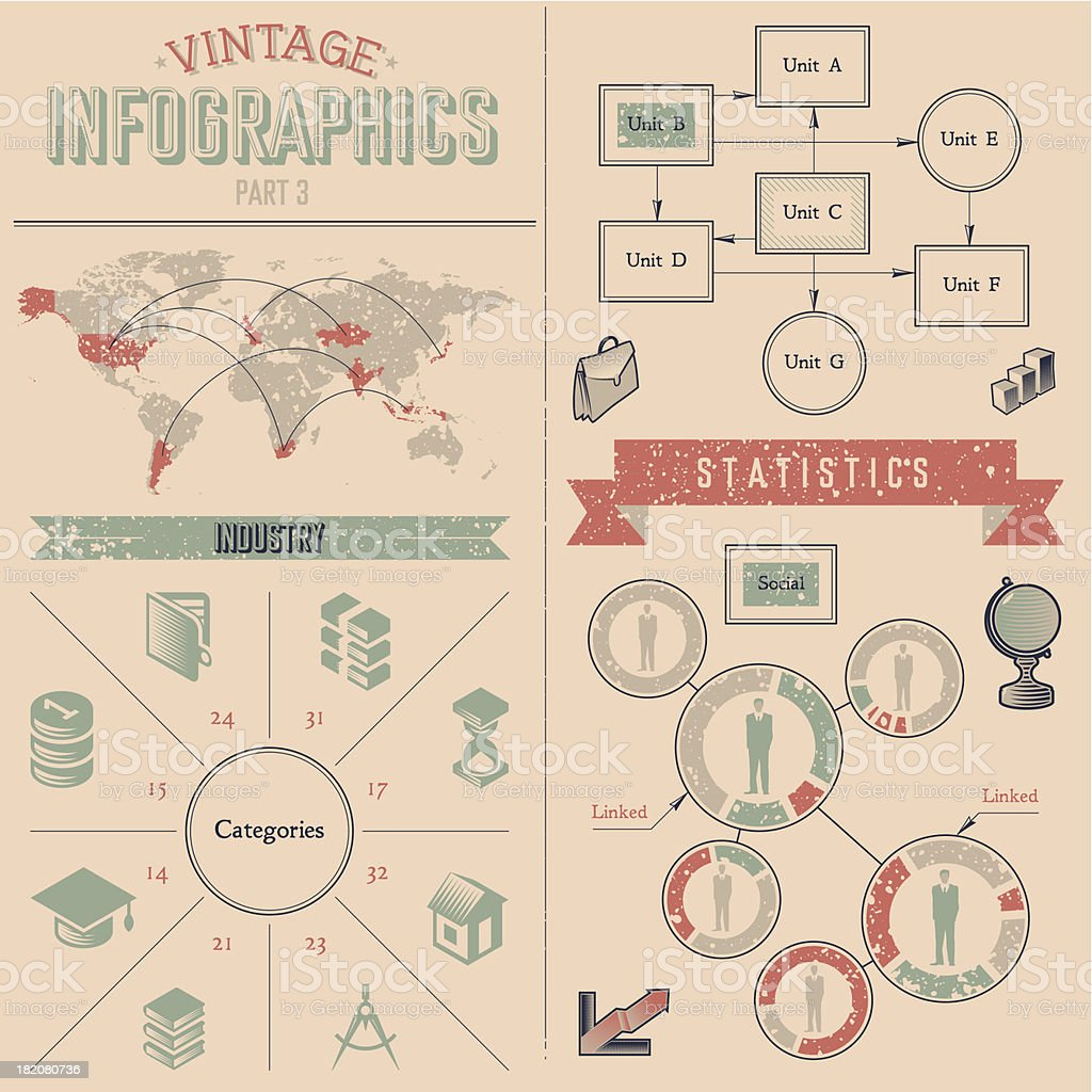 Vintage Infographics Design Elements Stock Illustration - Download Image  Now - iStock
