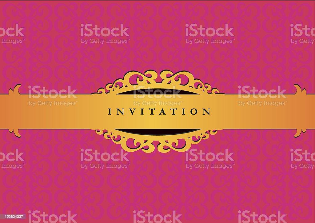 vintage invitation card royalty-free stock vector art