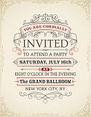 Retro invitation on vintage background.Eps 10 file with transparencies.File is layered with global colors.High res jpeg included.More works like this linked below.