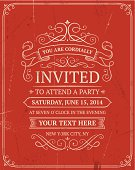 Retro invitation
