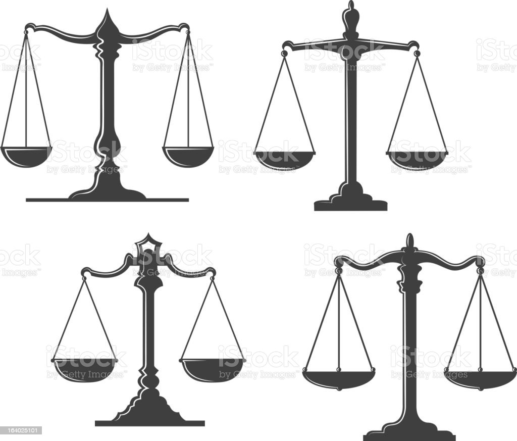 Vintage justice scales royalty-free vintage justice scales stock vector art & more images of balance