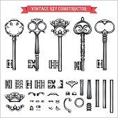 Vintage key constructor.
