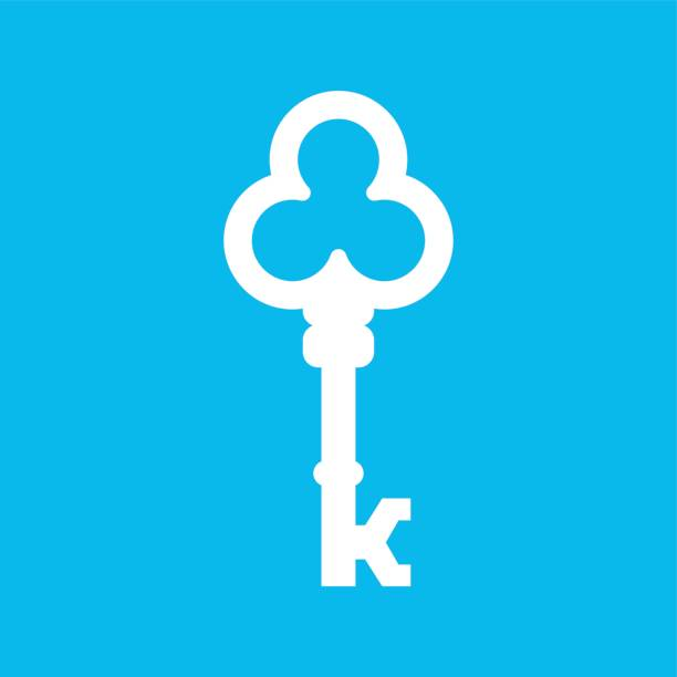 Vintage Key Vector Company, Vector letter K Vintage Key Vector Company, Vector letter K k logo illustrations stock illustrations