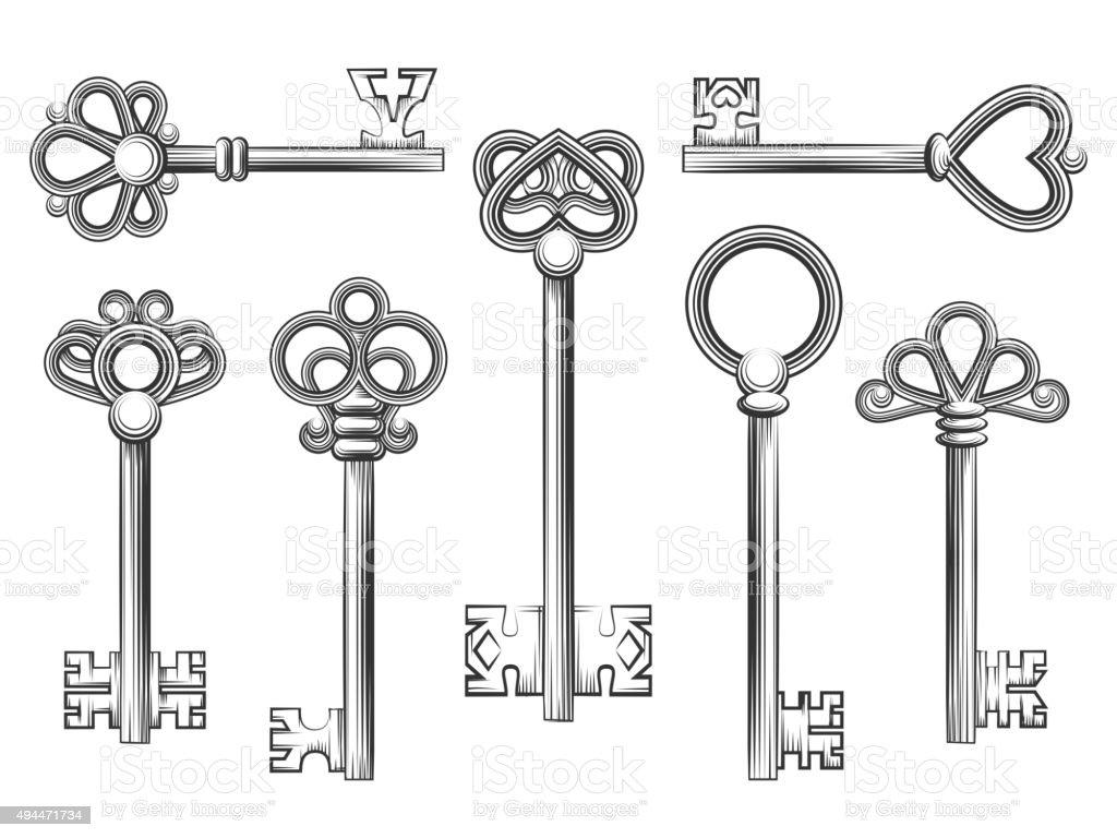 vintage style key set - photo #23
