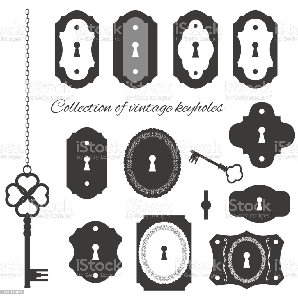 Vintage Keyholes And Keys Set Stock Illustration ...