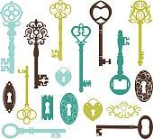 Vintage Keys Silhouette