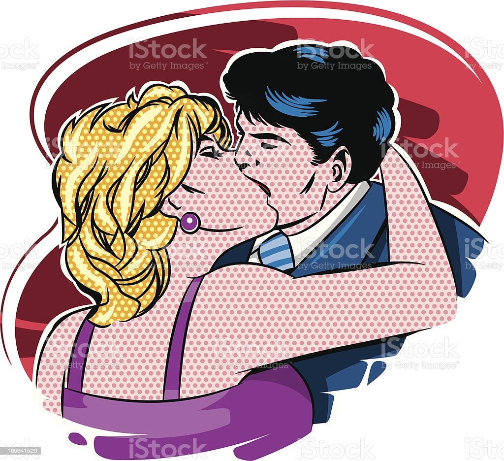 vintage baiser - Illustration vectorielle