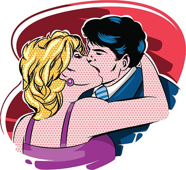 Cartoon Of A Couple Making Love Sex Illustrations, Royalty
