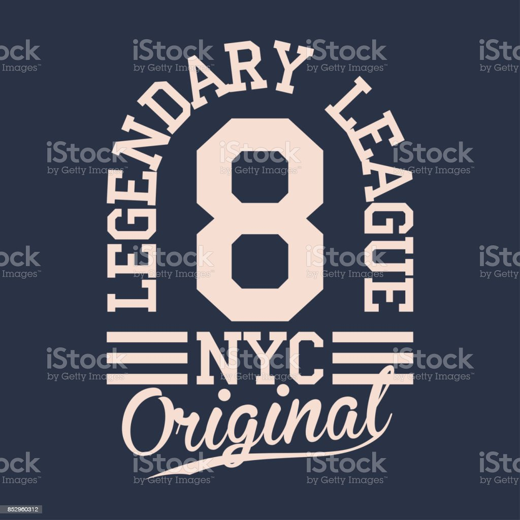 Vintage label, athletic sport typography for t shirt print. Varsity style. T-shirt graphic vector art illustration