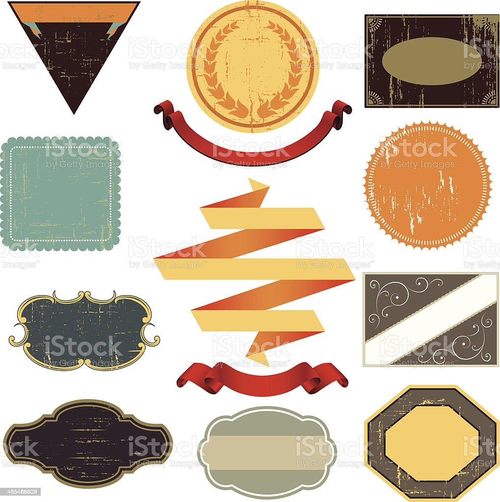 Vintage Label Designs royalty-free stock vector art