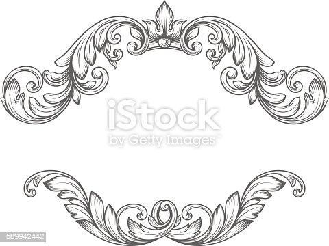istock Vintage label frame design elements 589942442