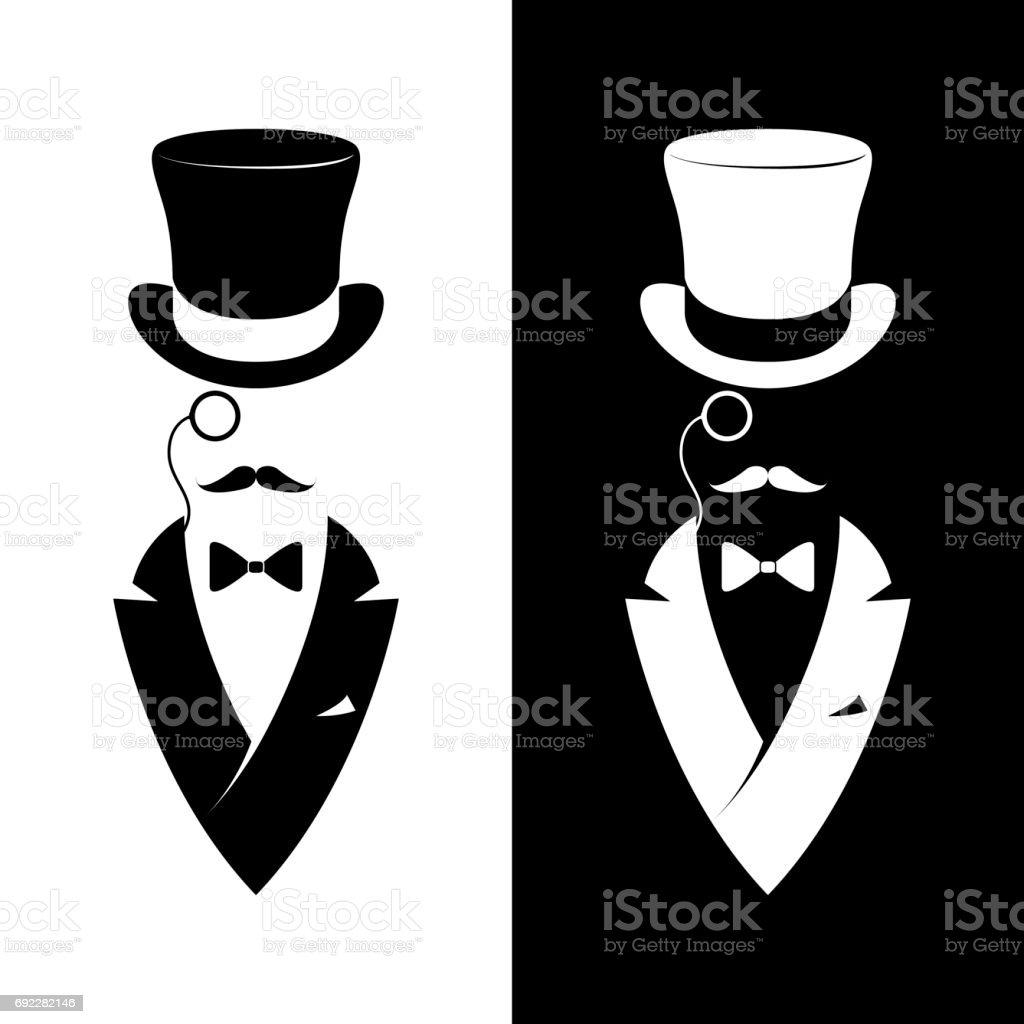 Vintage label gentlemen club. Hipster icon. Vector illustration. vector art illustration