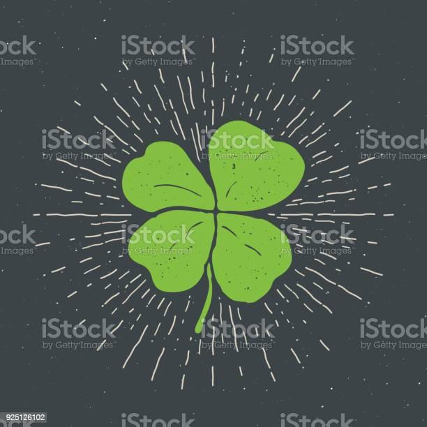 Vintage label hand drawn lucky four leaf clover happy saint patricks vector id925126102?b=1&k=6&m=925126102&s=612x612&h=ehn1i2wrf07sfpshuhzfeq9dcsm7qv37519vfp3j7qe=