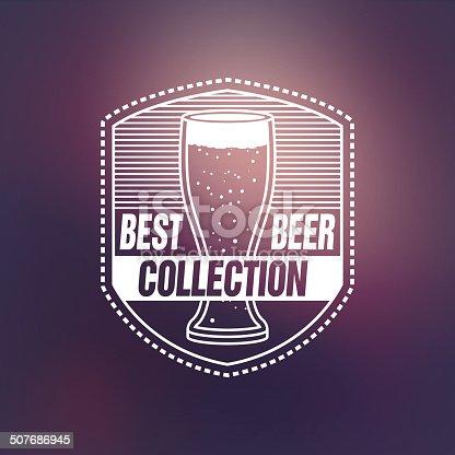 Vintage label of beer