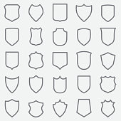 Vintage Label Out Line Icons
