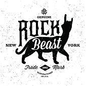 vintage label Rock Beast